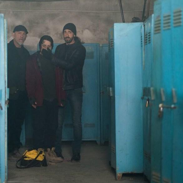 "John Malkovich, Rory Culkin and Adrien Brody in ""Bullet Head"""