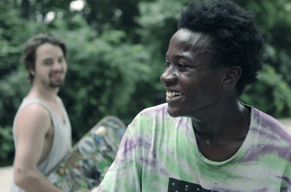 """Keire and Zack in a scene from Bing Liu's """"Minding the Gap"""""""
