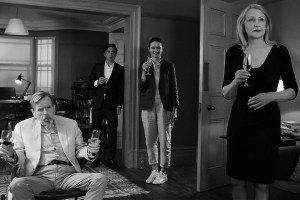 "Emily Mortimer, Timothy Spall, Cillian Murphy and Patricia Clarkson in ""The Party"""
