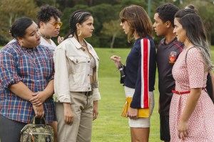 "A scene from Jackie Van Beek and Madeleine Sami's ""The Breaker Upperers"""