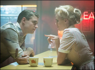 """Max Irons and Margot Robbie in """"Terminal"""""""