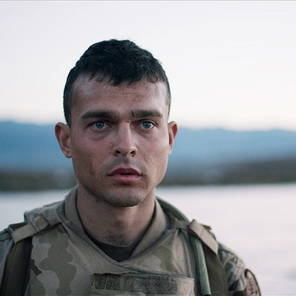 "Alden Ehrenreich in ""The Yellow Birds"""