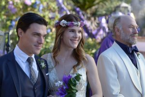"Finn Wittrock, Lily Rabe and Ted Levine in ""Midsummer Night's Dream"""