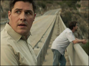 "Rich Sommer and Clifton Collins Jr. in ""A Crooked Somebody"""