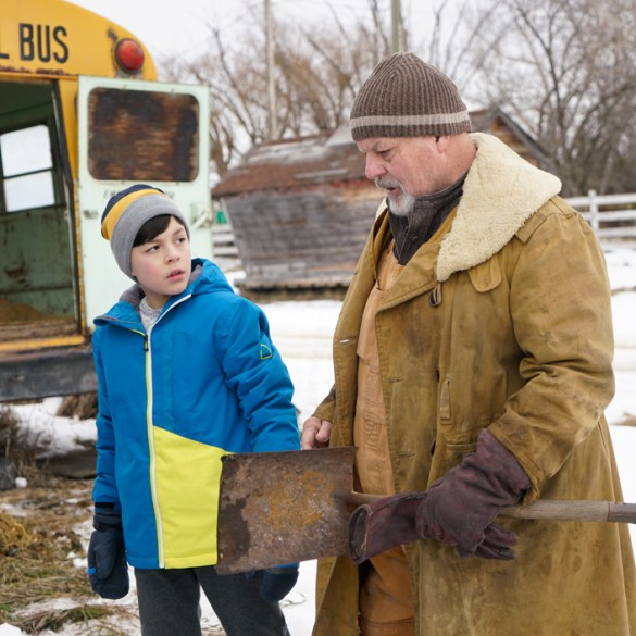 """Michael Ironside and Luca Villacis in """"Knuckleball"""""""