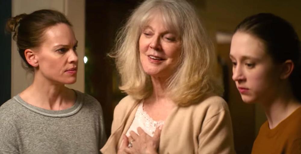 "Hilary Swank, Blythe Danner and Taissa Farmiga in ""What They Had"""