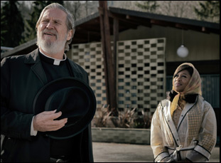 "Jeff Bridges and Cynthia Erivo in ""Bad Times at the El Royale"""