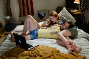 "Emma Roberts and Michael Angarano in ""In a Relationship"""