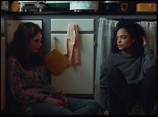 "Lily James and Tessa Thompson in ""Little Woods"""