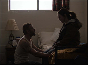 "Lily James and James Badge Dale in ""Little Woods"""