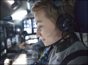 Annamaria Marinca as an astronaut in a scene from Sebastian Cordero's film Europa Report