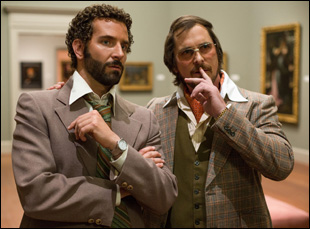 "Christian Bale and Bradley Cooper in ""American Hustle"""