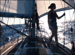 "Laura Dekker sailing in Jillian Schlesinger's ""Maidentrip"""