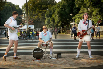 """David Drury, Philip A. Peterson and Sean Lowry as Tennis Pro in """"Big in Japan"""""""