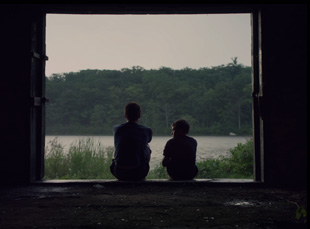 "Ryan Jones and Nathan Varnson in Daniel Patrick Carbone's ""Hide Your Smiling Faces"""