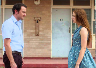 """Josh McConville and Hannah Marshall in """"The Infinite Man"""""""