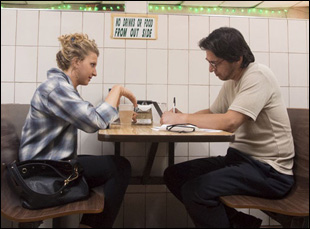 "Nina Arianda and Ray Romano in ""Rob the Mob"""