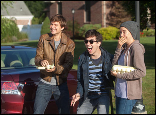 "Ansel Elgort, Shailene Woodley and Nat Wolff in ""The Fault in Our Stars"""