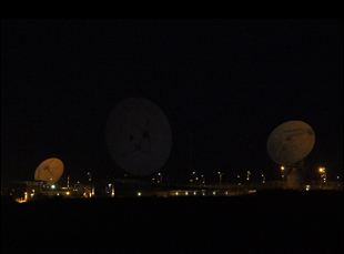 GCHQ satellites in Bude, England. Photo by Trevor Paglen.