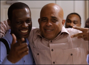 "Pras Michel and Michel Martelly in ""Sweet Micky for President"""