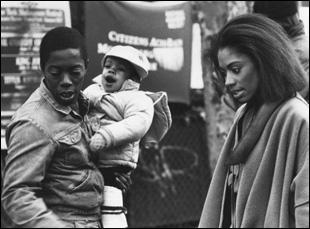 "Charles Lane, Nicole Alysia and Sandye Wilson in ""Sidewalk Stories"""