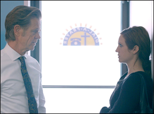 """William H. Macy and Brittany Snow in """"Dial-A-Prayer"""""""