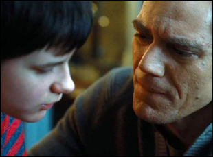 "Michael Shannon and Charlie Tahan in ""The Harvest"""
