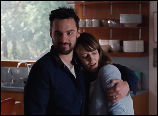 "Jake Johnson and Rosemarie DeWitt in ""Digging for Fire"""