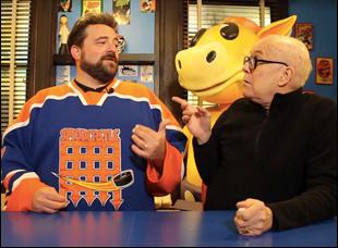 """Bob Hawk and Kevin Smith in """"Film Hawk"""""""