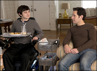 """Craig Roberts and Paul Rudd in """"The Fundamentals of Caring"""""""