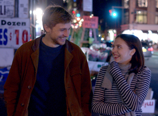 "William Moseley and Bel Powley in ""Carrie Pilby"""