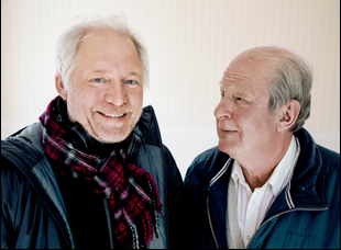 """Hannes Holm and Rolf Lassgard from """"A Man Called Ove"""""""