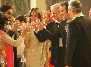 "Elsa Zylberstein, Christopher Lambert and Jean Dujardin in ""Un Plus Une"""