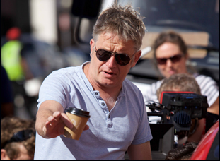 """Director Christopher Smith on the set of """"Detour"""""""