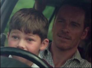 """Michael Fassbender and Killian Scott in """"Trespass Against Us"""""""