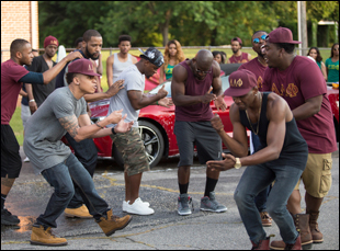 """A scene from Gerard McMurray's """"Burning Sands"""""""