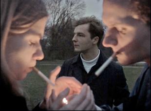 "Krzysztof Baginski, Michal Huszcza and Eva Lebuef in ""All These Sleepless Nights"""