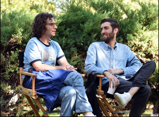 """Dave McCary and Kyle Mooney on the set of """"Brigsby Bear"""""""