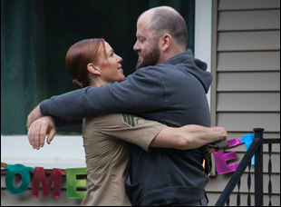 """Kate Nowlin and Chris Sullivan in """"Blood Stripe"""""""