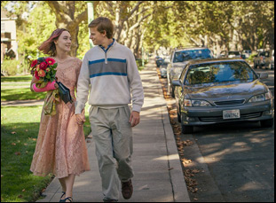 "Saoirse Ronan and Lucas Hedges in ""Lady Bird"""