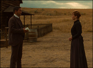 """Jim Caviezel and Kathy Baker in """"The Ballad of Lefty Brown"""""""