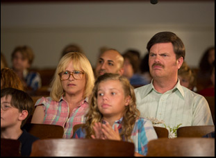 "Patricia Arquette and Rainn Wilson in ""Permanent"""