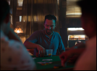 "A scene from Joe Swanberg's ""Win It All"""