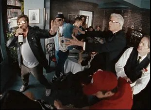 """Danny McBride, Ted Danson, Seth Rogen and Elijah Wood in """"Fight for Your Right (Revisited)"""""""