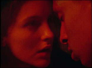 """Ann Skelly and Ryan Lincoln in """"Kissing Candice"""""""