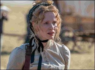 "Jessica Chastain in ""Woman Walks Ahead"""