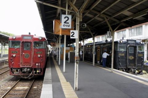 吉松駅の観光列車