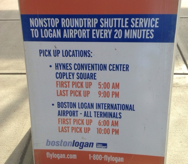 Airport to Back Bay $5 bus. $2 only to Red Line