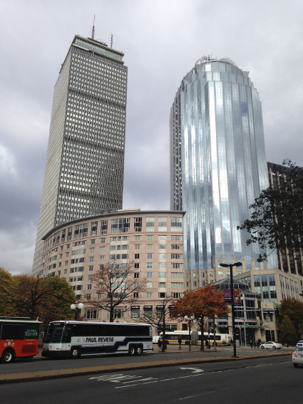 old and new Boston in one photo