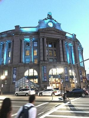 South Station Boston at Night